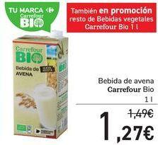 Oferta de Bebida de avena Carrefour Bio por 1,27€
