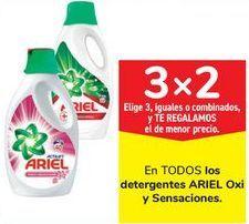 Oferta de En TODOS los detergentes ARIEL Oxi y sensaciones  por