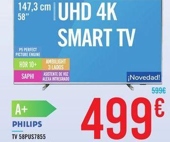 Oferta de TV 58PUS7855 PHILIPS por 499€