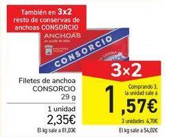 Oferta de Filetes de anchoa CONSORCIO por 2,35€