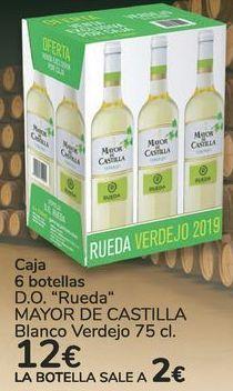 Oferta de Caja 6 botellas D.O. Rueda MAYOR DE CASTILLA Blanco Verdejo  por 12€