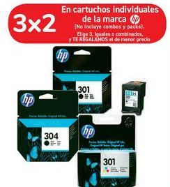Oferta de En cartuchos individuales de la marca HP por