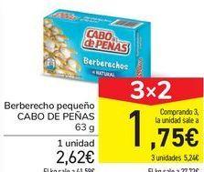 Oferta de Berberecho pequeño CABO DE PEÑAS por 2,62€
