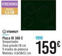 Oferta de Plca RI 360 C Indesit por 159€