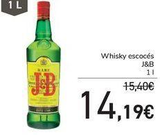 Oferta de Whisky escocés J&B por 14,19€