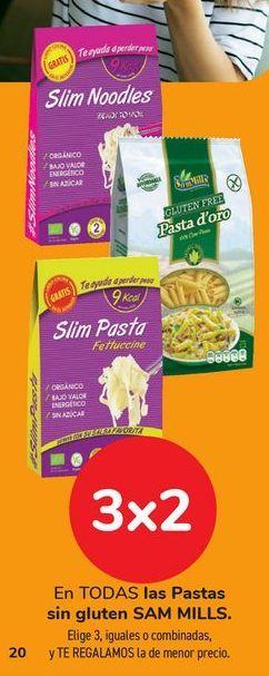 Oferta de En TODAS las Pastas sin gluten SAM MILLS por