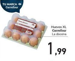 Oferta de Huevos XL Carrefour por 1,99€