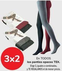 Oferta de En TODOS los panties opacos TEX  por