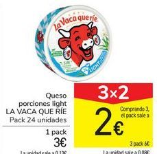 Oferta de Queso porciones light LA VACA QUE RÍE por 3€