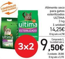 Oferta de Alimento seco para gaos esterilizados ULTIMA  por 14,25€