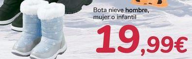 Oferta de Bota nieve hombre, mujer o infantil  por 19,99€