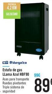 Oferta de Estufa de gas LLma Azul HBF90 Orbegozo  por 89€