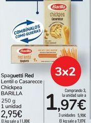 Oferta de Spaguetti Red Lentil o Casarecce Chickpea BARILLA por 2,95€