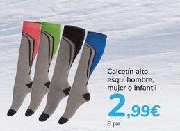 Oferta de Calcetín alto esquí hombre, mujer o infantil  por 2,99€