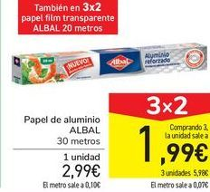 Oferta de Papel de aluminio ALBAL por 2,99€