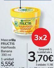 Oferta de Mascarilla FRUCTIS Hairfood Banana por 5,55€