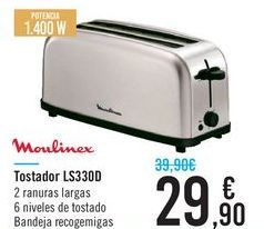 Oferta de Tostadora LS330D Moulinex  por 29,9€