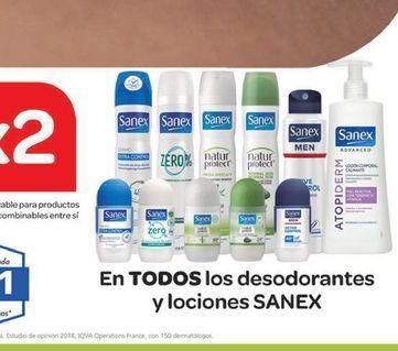 Oferta de En TODOS los desodorantes y lociones SANEX  por