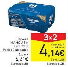 Oferta de Cerveza MAHOU Sin  por 6,21€