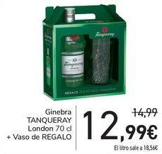Oferta de Ginebra TANQUERAY Londo + Vasop de regalo  por 12,99€