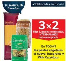 Oferta de En TODAS las pastas vegetales, al huevo, integrales y Kids Carrefour por