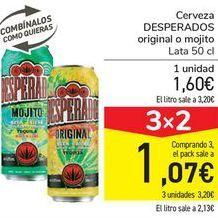 Oferta de Cerveza DESPERADOS Original o mojito por 1,6€
