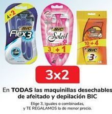 Oferta de En TODAS las maquinillas desechables de afeitado y depilación BIC por