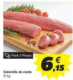 Oferta de Solomillo de cerdo por 6,15€