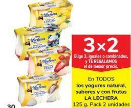 Oferta de En TODOS los yogures natural, sabores y con frutas LA LECHERA por