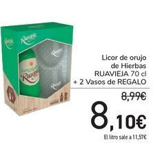 Oferta de Licor de orujo de Hierbas RUAVIEJA + Vaso de REGALO  por 8,1€