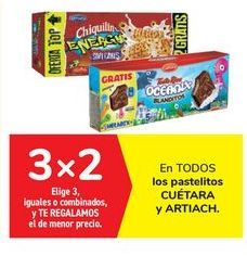 Oferta de En TODOS los pastelitos CUÉTARA y ARTIACH por