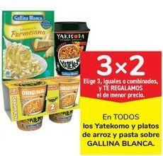 Oferta de En TODOS los Yatekomo y platos de arroz y pasta sobre GALLINA BLANCA por