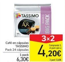 Oferta de Café en cápsulas TASSIMO por 6,3€