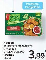 Oferta de Nuggets de proteína de guisante y trigo 0% GREEN CUISINE FINDUS por 3,99€