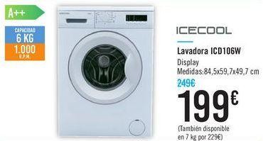 Oferta de Lavadora ICD106W Icecool por 199€