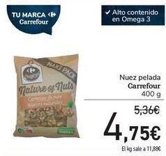 Oferta de Nuez pelada Carrefour por 4,75€