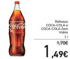 Oferta de Refresco COCA-COLA o COCA-COLA Zero vidrio  por 1,49€