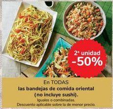 Oferta de En TODAS las bandejas de comida oriental (no incluye sushi) por