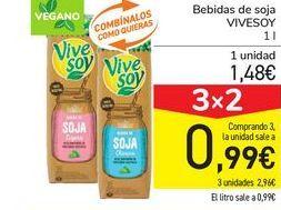 Oferta de Bebidas de soja VIVESOY por 1,48€