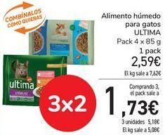 Oferta de Alimento húmedo para gatos ULTIMA por 2,59€