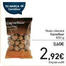 Oferta de Nuez cáscara Carrefour por 2,92€