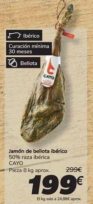 Oferta de Jamón de bellota ibérico CAYO por 199€