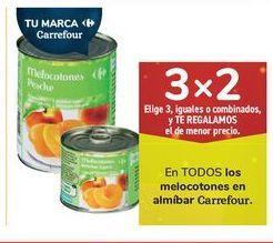 Oferta de En TODOS los melocotones en almíbar Carrefour por