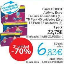 Oferta de Pants DODOT Activity Extra  por 22,75€