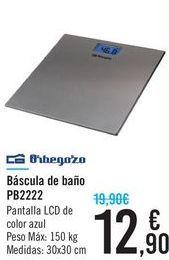 Oferta de Báscula de baños PB2222 Orbegozo  por 12,9€
