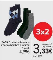 Oferta de Pack 3 calcetin termal o intarsia hombre o infantil  por 4,99€