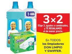 Oferta de En TODOS los limpiadores DON LIMPIO y SWIFFER  por