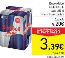 Oferta de Energéticos RED BULL  por 4,2€