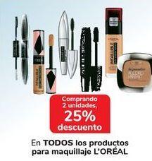 Oferta de En TODOS los productos para maquillaje L'OREAL por