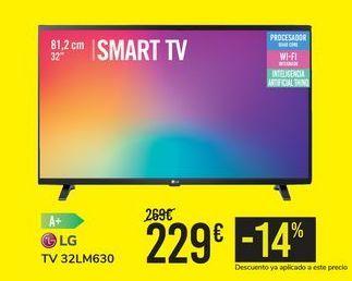 Oferta de TV 32LM630 LG por 229€
